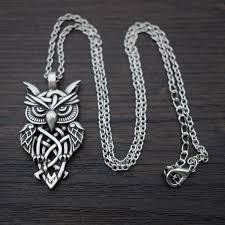 owl pendant necklace silver images Celtic owl pendant necklace blue fire store jpg