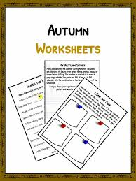 autumn facts information worksheets pdf lesson study material