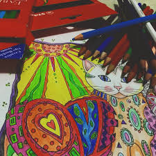 the color book battling away stress with calligraphy and coloring books
