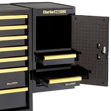 clarke sl26bgb 2 drawer side locker black u0026 gold machine mart