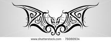 tribal vector bat tattoo stock images royalty free images