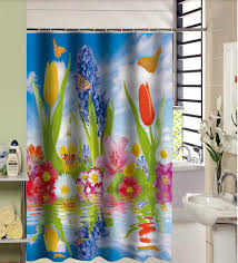 Fashion Shower Curtain Cartoon Butterfly Frog Green Leaves Custom 160x180cm Polyester