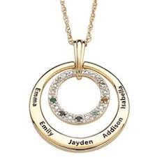 necklace with name and birthstone birthstone and diamond necklace with names silver or gold