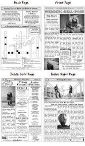 newspaper wedding program wedding program newspaper template mini newspaper program with