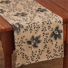 primitive country table runners rugs mats