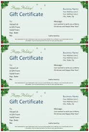 christmas gift certificate template word 2003 template design