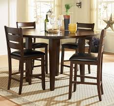 counter height dining table with leaf minimalist home elegance 586 36rd 5 pc ameillia collection dark oak