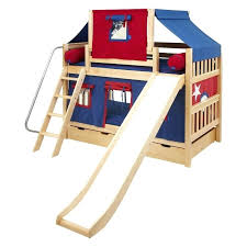 inspirational bunk beds with slide and tent designing home top