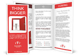 welcome brochure template welcome brochure template 3d person and a open door