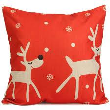 christmas santa deer pillow case cushion cover comfortable and