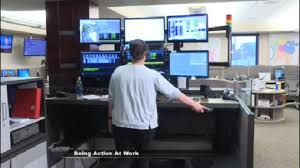 central dakota communications center employees stay active at work