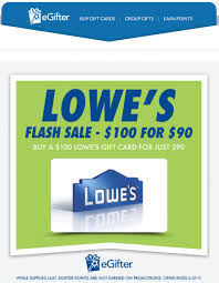 who buys gift cards back deal 100 lowe s egift card for 90 from egifter