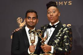 the middle thanksgiving lena waithe and aziz ansari win emmy for master of none u0027s