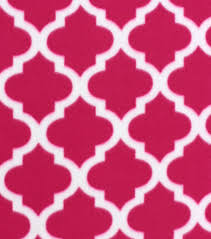 Moroccan Tile by Blizzard Fleece Fabric Pink Moroccan Tile Joann