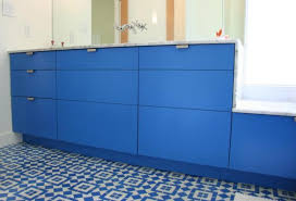 Used Ikea Cabinets To Da Loos A Dozen Fun Blue Bathroom Vanities