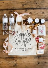 What To Put In Wedding Bathroom Basket The Gift Insider U0027s Wedding Welcome Totes And Hangover Kits