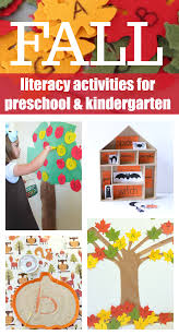 fall literacy activities for preschool and kindergarten no time