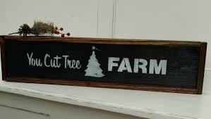 you cut tree farm pallet framed sign christmas tree framed art