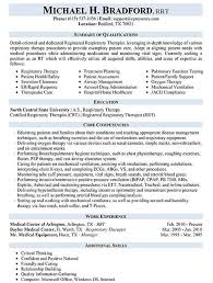 respiratory therapist resume exles respiratory therapist resume sle work respiratory