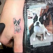 white and black dog u0027s tattoo tattoomagz