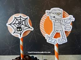it u0027s written on the wall kit halloween cupcake toppers and wraps