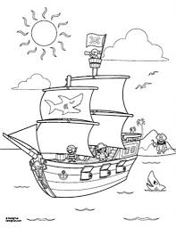 the brilliant pirate ship coloring page regarding inspire in