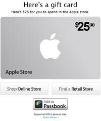store gift cards apple adds passbook enabled gift cards to its store app cnet