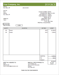 6 best images of editable invoice templates printable free