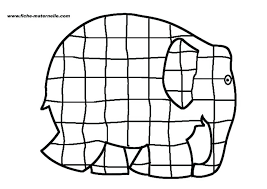elmer patchwork elephant coloring colouring sheets