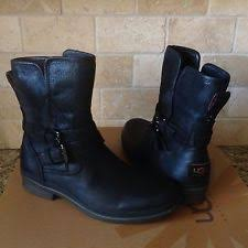 womens ugg ankle boots ugg australia simmens black waterproof leather boots us 11 eu 42