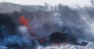 what are lava ls made of hawaii kilauea volcano lava from kilauea volcano enters ocean