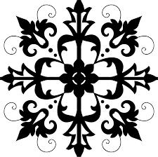 clipart decorative ornamental floral tile no background