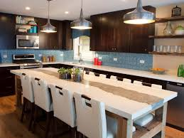 kitchen glamorous ktchen with blue backsplash and wooden