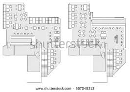 Set Design Floor Plan Floor Plan Top View Stock Images Royalty Free Images U0026 Vectors