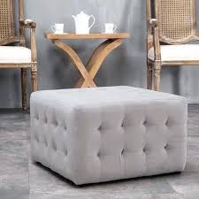Grey Tufted Ottoman Tufted Grey Ottoman Etechconsulting Co