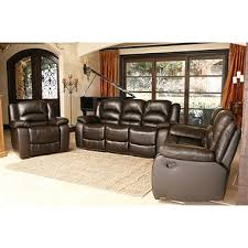 Brown Leather Reclining Sofa by Verona Top Grain Leather Reclining Sofa Loveseat And Chair Set