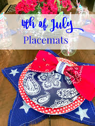 4th of july placemats patina and paint