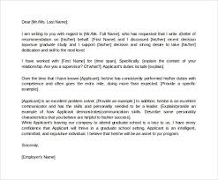 graduate recommendation letter from employer the letter sample