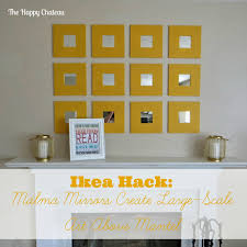 Ikea Hack Office The Happy Chateau Ikea Hack Malma Mirrors Above The Mantel