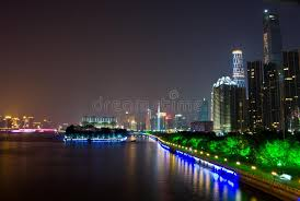 city lights at town center guangzhou city night stock image image of city light 45915999