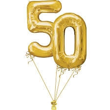 50th birthday balloon delivery 50th large birthday numbers balloon bouquet helium filled