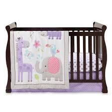 cuddletime girls u0027 sweet safari 3 piece crib set animals u0026 polka dots