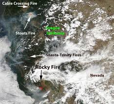 Wildfire Map Valley Fire by Rocky Fire U2013 Wildfire Today