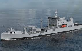 build a navy shares sink at company due to build new naval tanker radio new