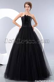 cheap tulle strapless tulle black quinceanera dress for figure cheap 1st