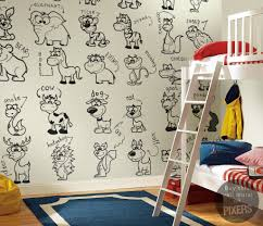 back to school with lovely murals to color pixersize com animals