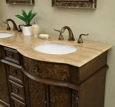60 inch victorian double sink bathroom vanity cabinet with benevola