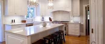 Transitional White Kitchen - kitchen remodel transitional project 15 walker woodworking