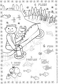 fishing pond coloring page science and social studies
