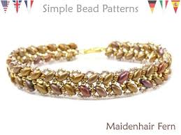 bead bracelet easy images Easy beginner super duo beading patterns jewelry making etsy jpg